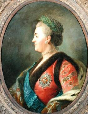 Portrait of Catherine II (1729-1796) of Russia