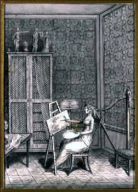 Portrait of Mme. Marie-Anne-Marguerite Gerard (1761-1837) in her Studio