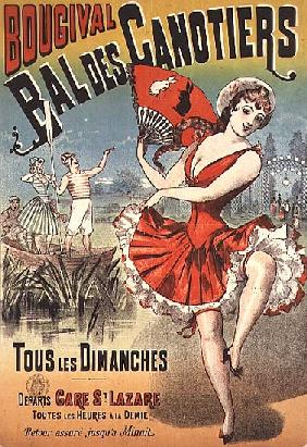 Poster for the ''Bal des Canotiers, Bougival''