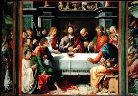 The Last Supper, central panel from the Eucharist Triptych
