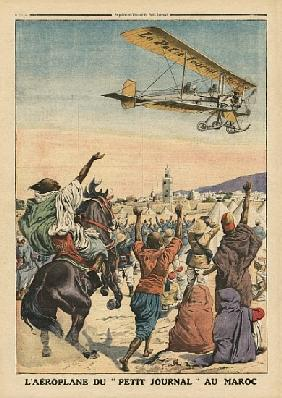 The ''Petit Journal'' airplane flying over Morocco, illustration from ''Le Petit Journal'', suppleme