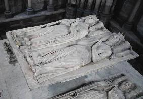 Tomb of Louis de France (d.1407) Duke of Orleans and his wife, Valentin Visconti (d.1408) Princess o