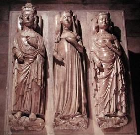 Tombs of Philippe V (1293-1322) Jeanne d'Evreux (1305-71) and Charles IV (1295-1328)