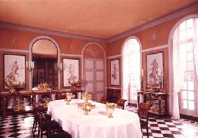 View of the dining room with Pompeiian style frescoes by Louis Lafitte (1770-1828) (photo)