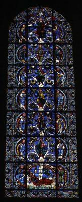 The Tree of Jesse, lancet window in the west facade (stained glass) (detail of 98062)