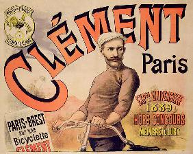 Poster advertising Clement bicycles