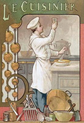 The Cook, c.1899 (colour litho)