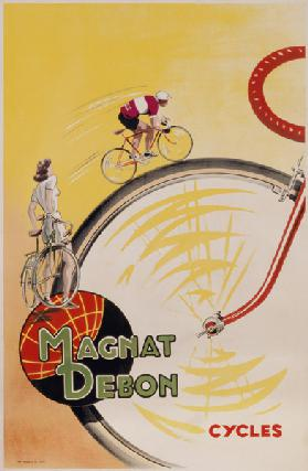 Poster advertising 'Magnat Debon' cycles
