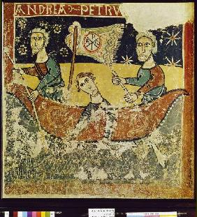 The hll. Peter and Andreas in the skiff fresco from p. of Clemente de Takull