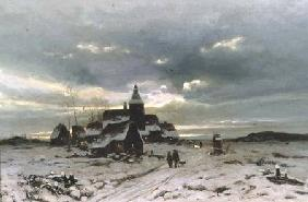 A Village in the Snow
