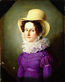 Lady portrait with ruff and hat.