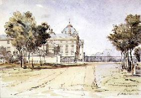 View of the Ecole Militaire in Paris