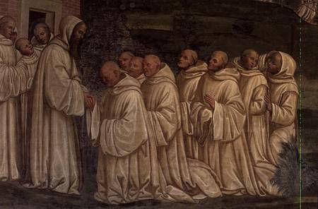 Benedictine Monks From The Life Of St G Signorelli As