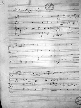 Music Score for a String quartet, Opus 121