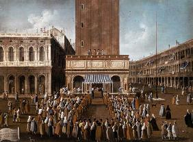 Public Lottery at the Loggetta, the Piazza San Marco, Venice
