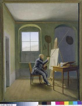 Caspar David Friedrich in the studio