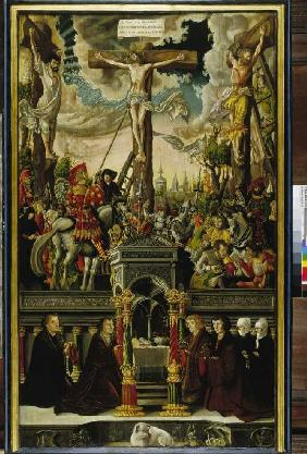 Epitaph Schmidburg, front's crucifixion Christi and members this one