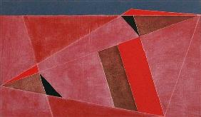 Triangulated Red Landscape
