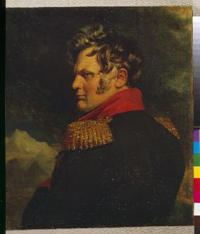 Portrait of the commander-in-chief of the Russian Army on the Caucasus Aleksey Yermolov (1777-1861)