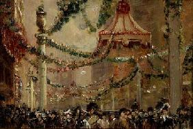 Pownall George Hyde - Decorations in St. James's Street for the Coronation of King George V