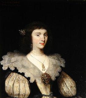 Lady Anne Campbell (1594-1638), 2nd Marchioness of Huntly, 1626 (oil on canvas) (for pair see 266107