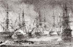 The Naval Battle of Navarino on 20 October 1827