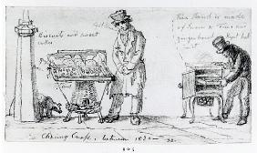 Biscuit and Gingerbread stalls at Charing Cross, 1820-30