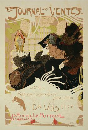 Reproduction of a poster advertising 'Le Journal des Ventes'