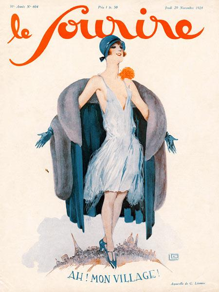 Front Cover of ''Le Sourire'', November 1928 (colour litho)