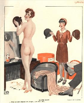 Illustration from ''Le Sourire'' (colour litho)