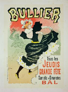 Reproduction of a poster advertising the 'Bullier Ball'