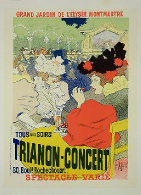 Reproduction of a Poster Advertising the 'Trianon-Concert'