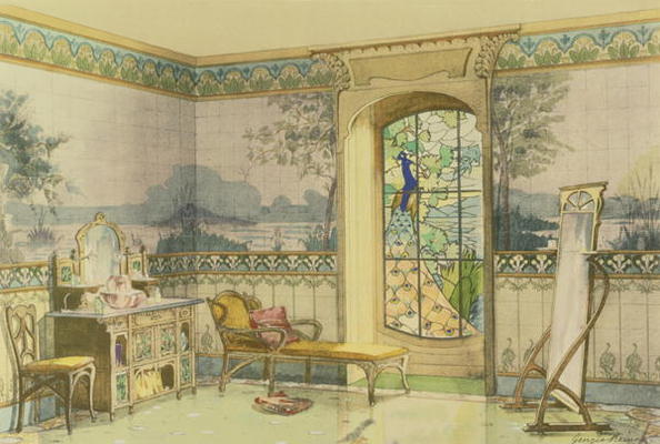Design for a Bathroom, from \'Interieurs - Georges Remon as art ...