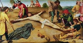 Christ Nailed to the Cross, 1481 (oil on oak)