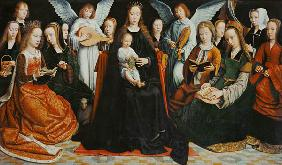 Madonna, surrounded by saints