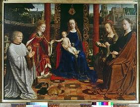 The Virgin and Child with Saints and Donor, 1523 (oil on oak)