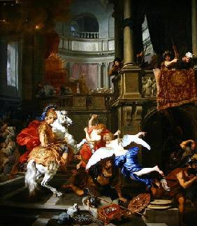 The Explusion of Heliodorus from the Temple, 1674 (oil on canvas)