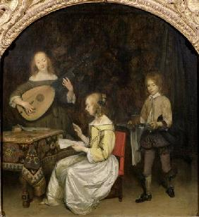 The Concert: Singer and Theorbo Player