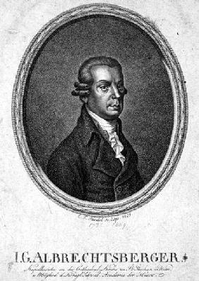 Johann Georg Albrechtsberger (1736-1809) engraved by C.F. Riedel