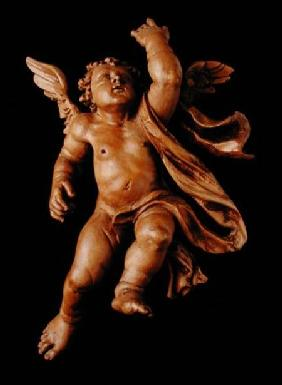 One of a pair of putti