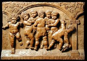 Relief panel depicting a group of putti