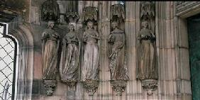 The Five Wise Virgins, jamb figures from the Paradise Portal, figures carved c.1250