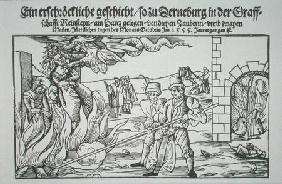 Three Witches Burned Alive, pamphlet illustration