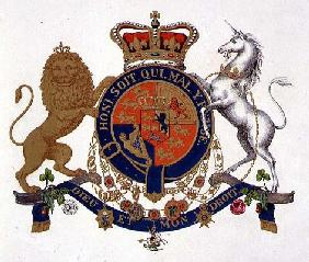 Crest of the King of the United Kingdom of Great Britain and Ireland, Defender of the Faith and King