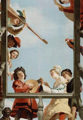 Musical Group on a Balcony