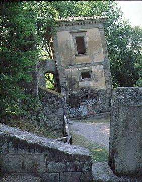The Leaning House, from the Parco dei Mostri (Monster Park) gardens laid out between 1550-63 by the