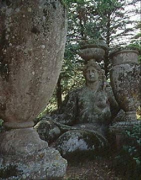 Ceres, sculpture from the Parco dei Mostri (Monster Park) gardens laid out between 1550-63 by the Du