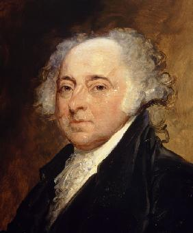 Portrait of John Adams (1735-1826) Second President of the United States of America (1797-1801)