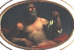 Personification of Water as the god Poseidon