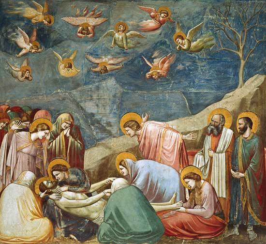 The Lamentation Of Christ Giotto Di Bondone As Art Print